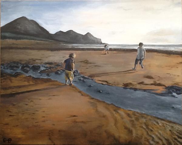 Children on Beach - RS
